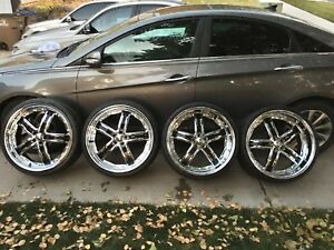 Gfg Baghdad 5 Staggered 2 Piece 22 Wheels Rare 5x112 Mercedes Audi