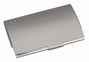 Free Engraving Personalized Silver Business Card Holder