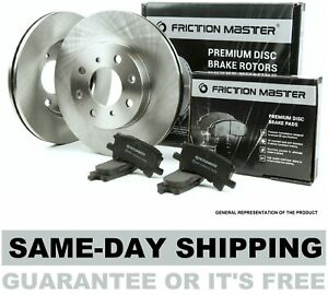 Front Oe Brake Rotors And Metallic Pads Pair Set 2000 2001 2002 2003 Ford F 150