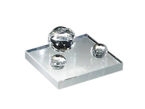 Free Engraving Personalized Three Crystal Balls Silver Desk Business Card Holder