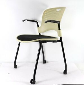 Herman Miller Caper Office Green Home Stacking Black Chairs Ergonomic
