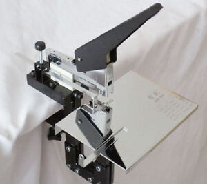 Dual Flat Riding Nail Saddle Stitch Stapler Book Binding Machine Manual