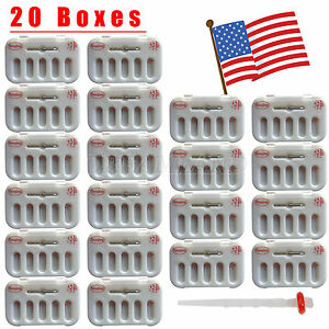20 Boxes Dental High intensity Screw Thread Quartz Fiber Resin Post Drills H 12