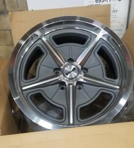 605 17x8 Ridler Grey Spoke 5 On 5 Bp Chevy Gmc Truck W Lugs Salt Flat Style