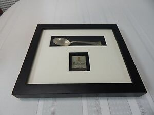 Vintage Framed And Matted Mayfair House Philadelphia Pa Teaspoon Match Book