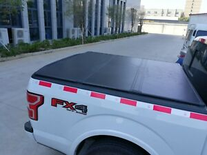 Aluminum Solid Trifold Hard Tonneau Cover 04 19 Ford F150 5 5 Short Bed Clamps