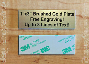 Brushed Gold 1x3 Custom Engraved Sign Plate Plaque Memory Trophy Collectible