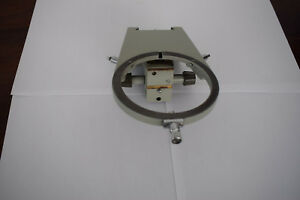 Stage Holder Carrier For Carl Zeiss Jena Amplival Ergaval Fluoval Microscope