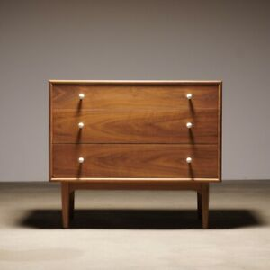 Kipp Stewart Declaration Walnt Chest By Drexel Mid Century Danish Dresser