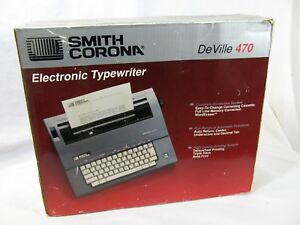 Smith Corona Electronic Typewriter Deville 470 Portable With Cover New Open Box