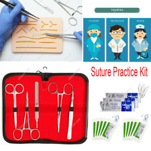 Student Surgical Suture Practice Kit Skin Medical Silicone Suture Pad Training