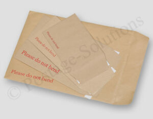 Please Do Not Bend Hard Card Board Backed Manila Envelope Brown A3 a4 a5 a6