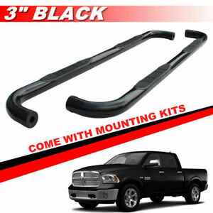 5 Black Oval Running Boards Nerf Bars For 2009 2018 Dodge Ram 1500 Crew Cab