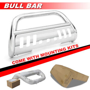S s Bull Bar W skid Plate Push Grille Guard 2 A For 02 06 Chevy Avalanche 1500
