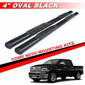 4 Chrome Oval Running Boards Side Steps For 2009 2018 Dodge Ram 1500 Crew Cab