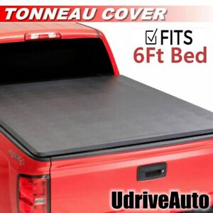 Lock Soft Roll Up Tonneau Cover For 2016 2019 Toyota Tacoma 6ft 72 Bed