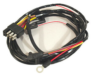 1966 Ford Mustang Gauge Feed Wiring Harness With 8 Cylinder Engine