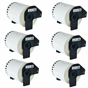 6roll Dk2243 102mm Continuous Address Labels Frame Compatible For Brother Ql 500