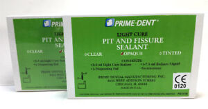 2 Prime Dental Visible Light Cure Pit And Fissure Sealant Kit Resin Bond Opaque