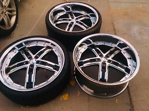 Gfg Baghdad 5 Staggered 2 Piece 22 Wheels Rare 5x112 Mercedes Audi Vw