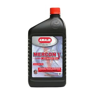 Amalie Mercon V Synthetic Transmissions Power Steering Fluid Pack Of 12 Qt