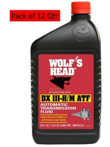 Wolf S Head Mercon Dexron Iii Conventional Transmission Fluid Pack Of 12 Qt