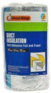 Frost King Fv516 Duct Insulation Self Adhesive Foil And Foam 12 W In X 15 L Ft