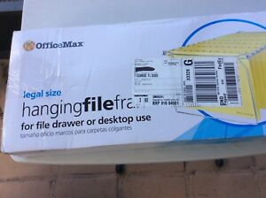 Lot Of 5 Units Officemax Hanging File Frame Legal Size