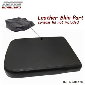 1pcs For Dodge Ram 2002 2008 Leather Armrest Center Console Lid Cover Black