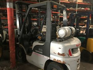 Nissan 50 Model Mp12a25lv Forklift 5000 Propane Pneumatic