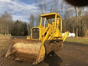 John Deere 450g Crawler Dozer With Winch And Log Arch 1400 Hrs