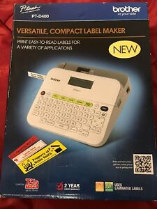 New Brother P touch Pt d400 Office Label Maker