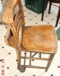 Vintage English Childs School Chair Sturdy Great For Home Schooling Playroom