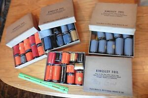 Kingsley Foil Lot Red Gold Orange Black For Vintage Hot Foil Stamping Machine