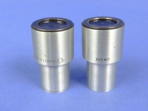 Nice Bausch Lomb 10x Wf Stereo Zoom Microscope Eyepiece 2ea Cleaned Tested
