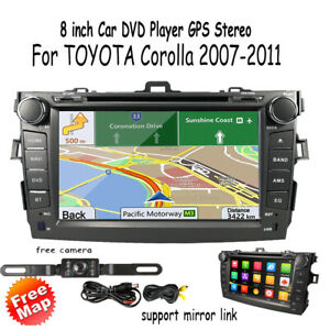 For Toyota Corolla 2007 2011 Car Headunit Dash Stereo Gps Dvd Player Touch Radio
