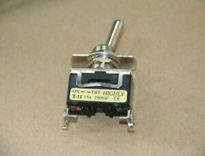 5pcs New For Highly T 11bs 2 pin On off Toggle Switch 15a 250vac zmi