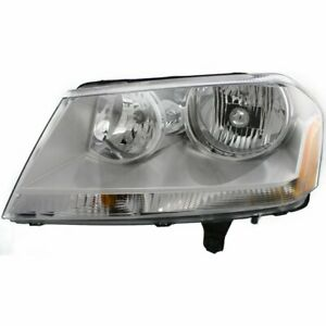 Headlight For 2008 2014 Dodge Avenger Left Clear Lens Halogen