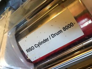 Risograph V 8000 Series Riso Red Color Drum Ink Drum W Case Working