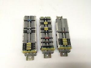 3 New Din Rail Panels With 75 Phoenix Contact Terminals Fuse Modules