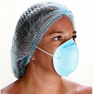 1000 Surgical Medical Dental Industrial Face Masks Cone Style Blue Color New