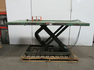 2000lb Hydraulic Scissor Lift Table 96 x48 Top 230v 3ph 8 To 44 Ht