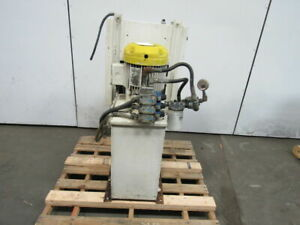 7 5 Hp 15 Gallon Hydraulic Power Unit W 9 0 Vickers Valves 230 460v 3ph