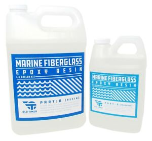 Boat Marine Wood Fiberglass Epoxy Resin Old Timer Ind 1 5 Gallon Marine Epoxy