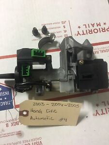 03 04 05 Honda Civic Oem Ignition Switch Cylinder Lock Auto Tr Immobilizer 1 Key