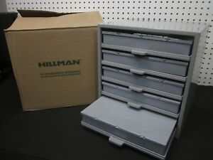 Hillman Hardware Parts Storage Cabinet 5 Drawer Steel Organizer With Drawer