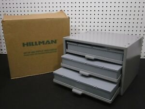 Hillman Hardware Parts Storage Cabinet 3 Drawer Steel Organizer With Drawer