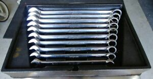 Snap On Tools 10 Pc Metric 12 Pt Combination Wrench Set Oexm710a Free Shipping