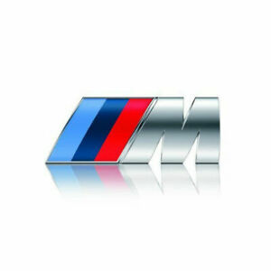 New 3d M Power Car Front Grill Badge Logo Emblem Sticker Fit For Bmw M3 X5 E46