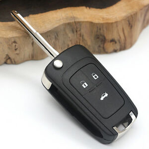 1x 3button Remote Folding Car Fob Key Shell Case Cover For Buick Chevrolet Cruze